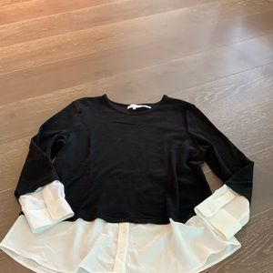 CALVIN KLEIN BLACK AND WHITE BLOUSE SZ XL
